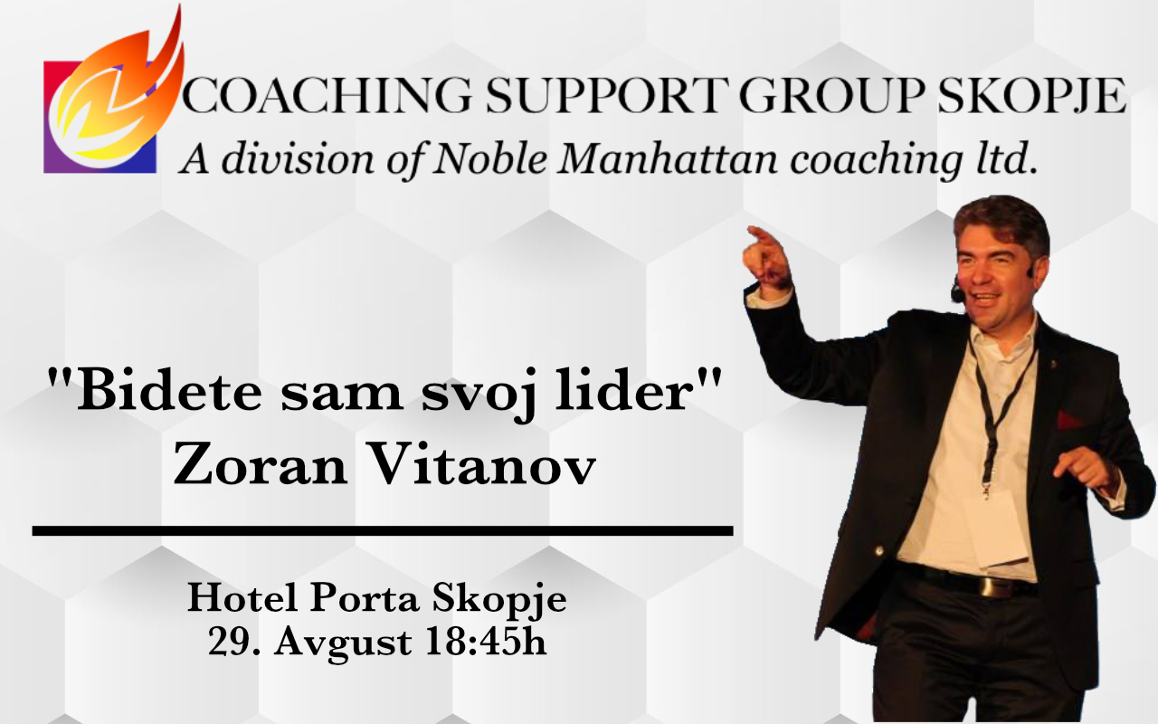 Image of Zoran Vitanov, Presenter at Skopje Coaching Support Group meeting on 29 August 2019