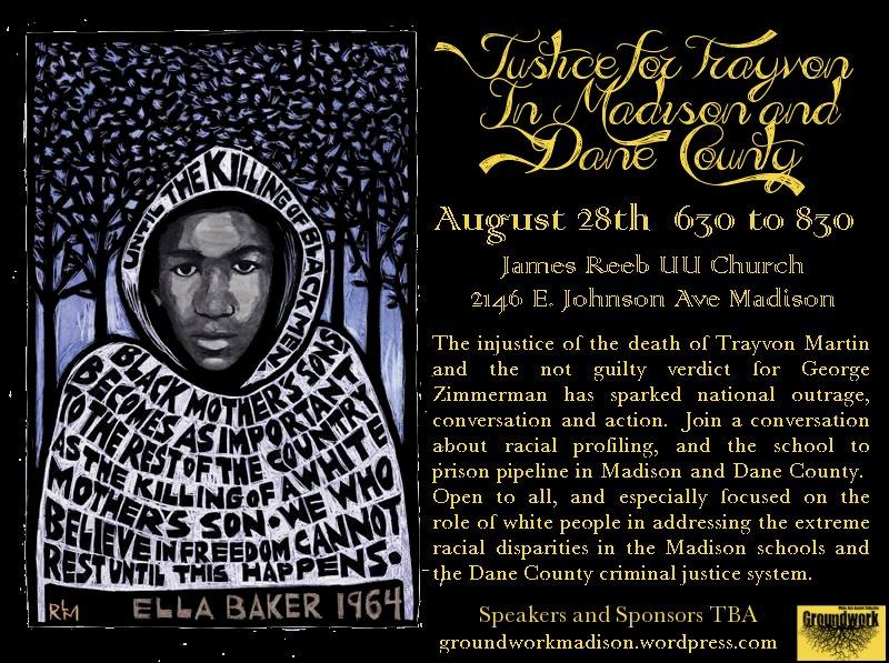 Trayvon Martin forum Aug 28