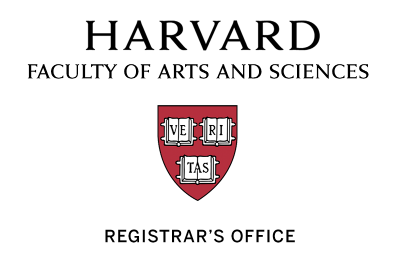 Harvard Faculty of Arts and Sciences | Registrar's Office