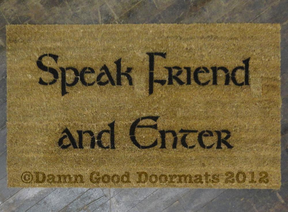LOTR speak friend and enter doormat Tolkien geekery
