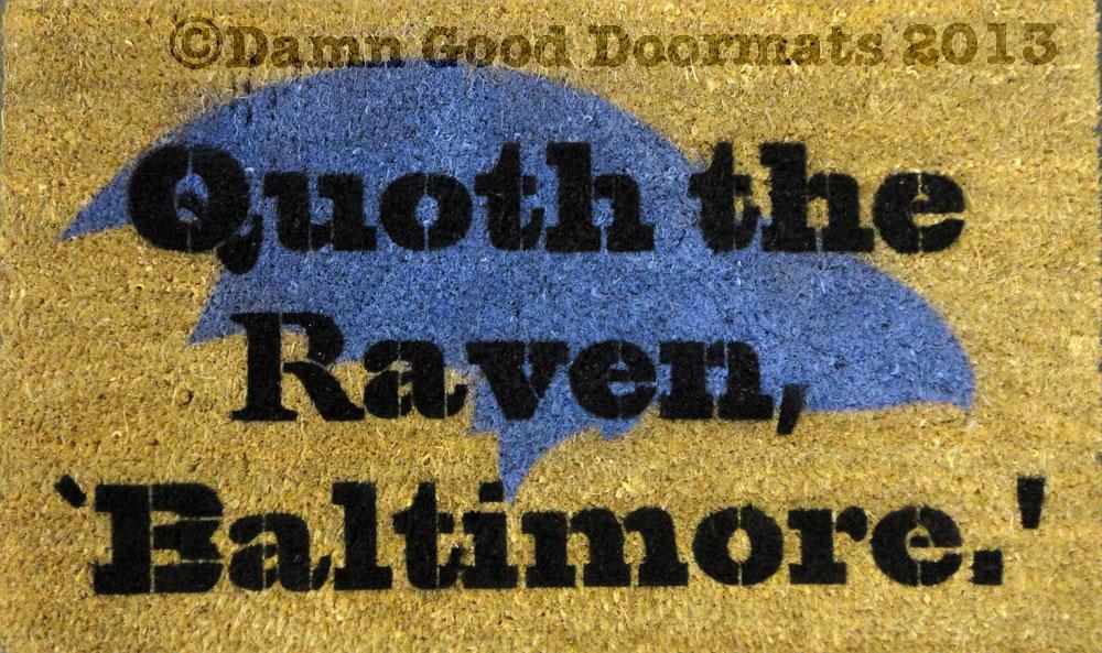 Quoth the Raven, Poe Baltimore Superbowl doormat