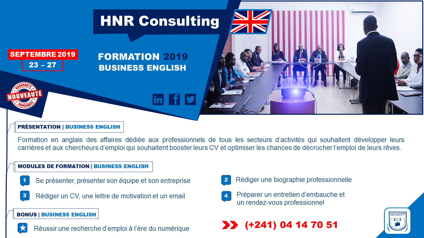Formation 2019 en business English