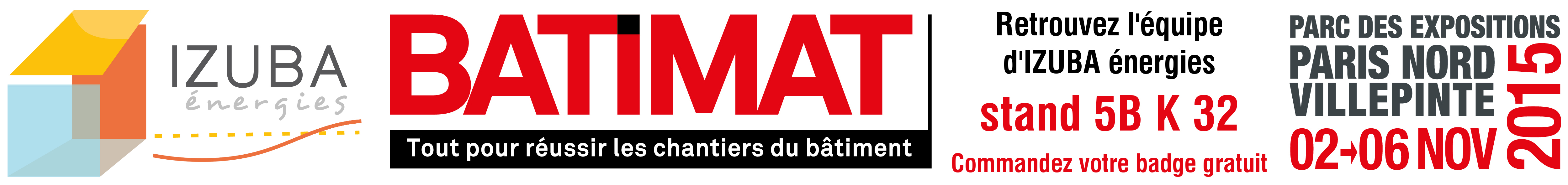 Bandeau Batimat 2015 IZUBA énergies
