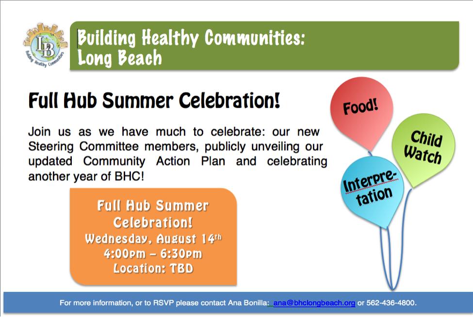 Full Hub Celebration Flyer