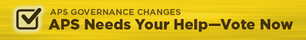 APS Governance Changes - Vote Now