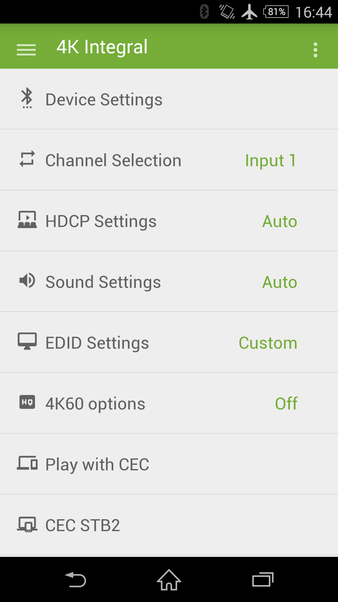 Total Control APP for Android