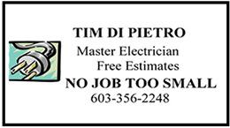 Tim Di Pietro - Master Electrician