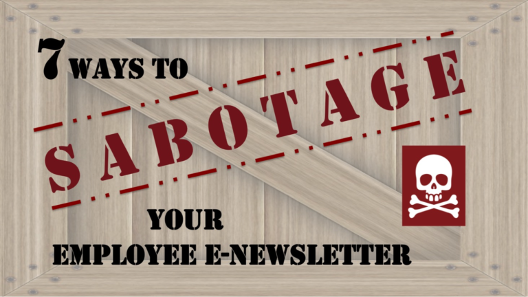 Don't sabotage your e-newsletter