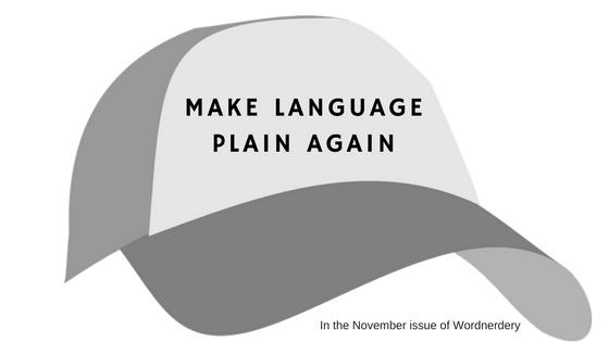 Make language plain again