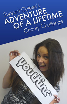 Support Colette's Adventure of a Lifetime Charity Challenge!