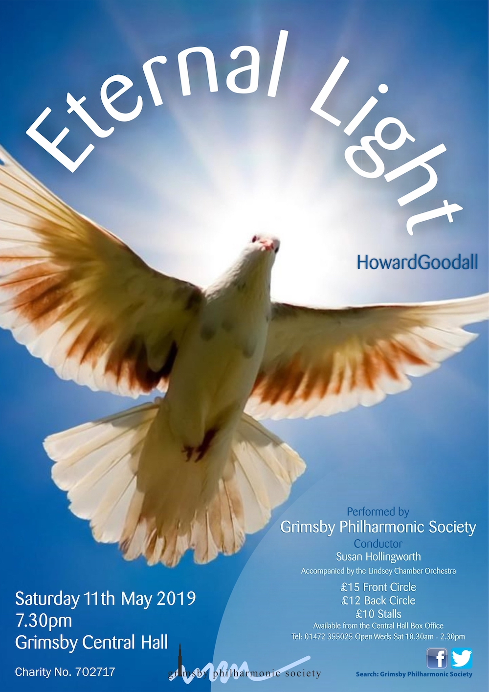 Eternal Light concert at Grimsby Central Hall by Grimsby Philharmonic @ Grimsby Central Hall