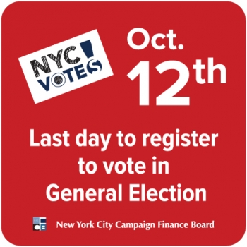 Register to vote by Oct. 12!
