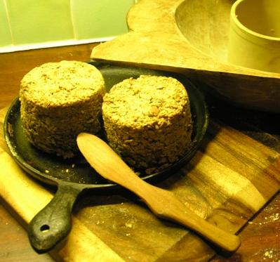 I bake my seed and nut loaf in clay baking cylinders