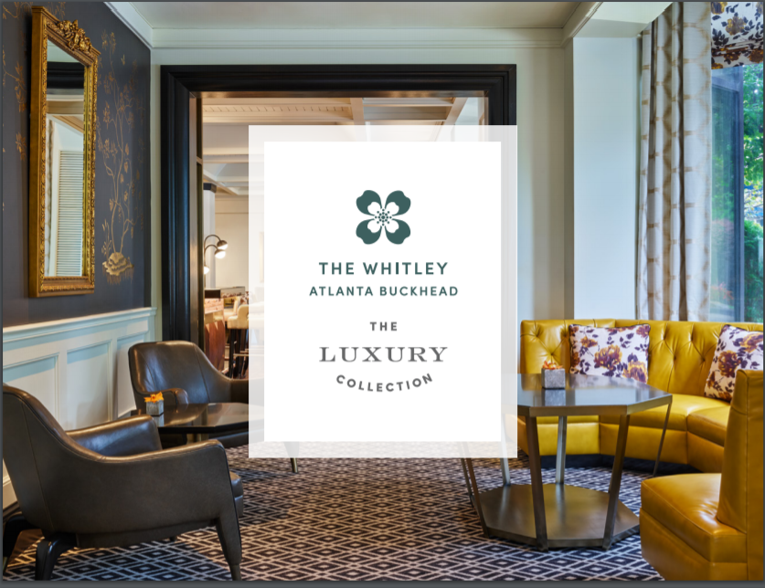 We look forward to hosting you in the beautiful Whitley Hotel, located in the heart of Buckhead surrounded by shopping districts and city walks for easy access to bars, restaurants, shopping and fun for everyone!