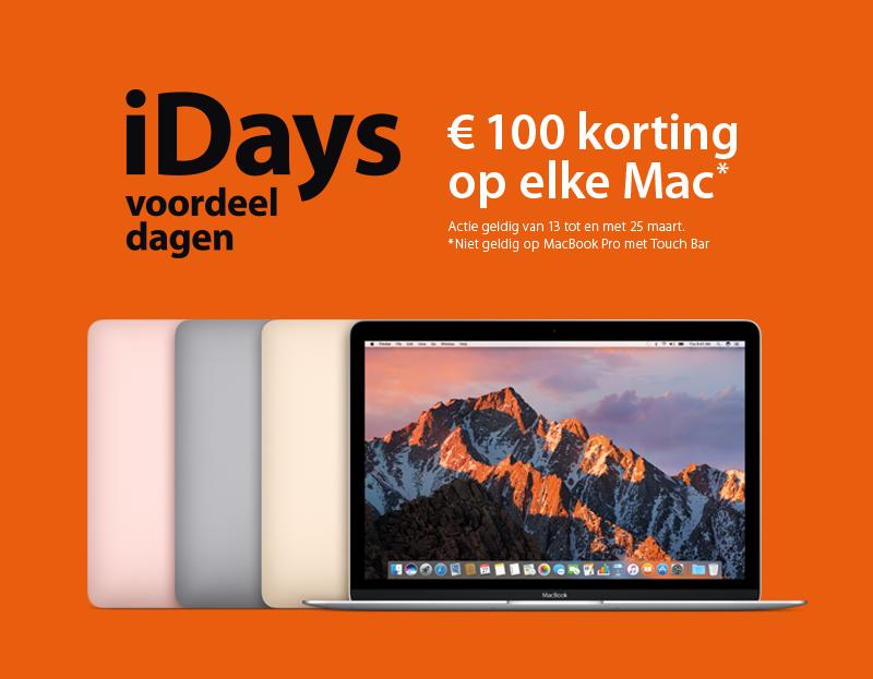 €100 korting op elke Mac