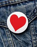 Heart on denimjacket