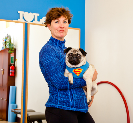 Tracy and Coco the superpug