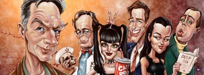 Steve Thomason NCIS caricature