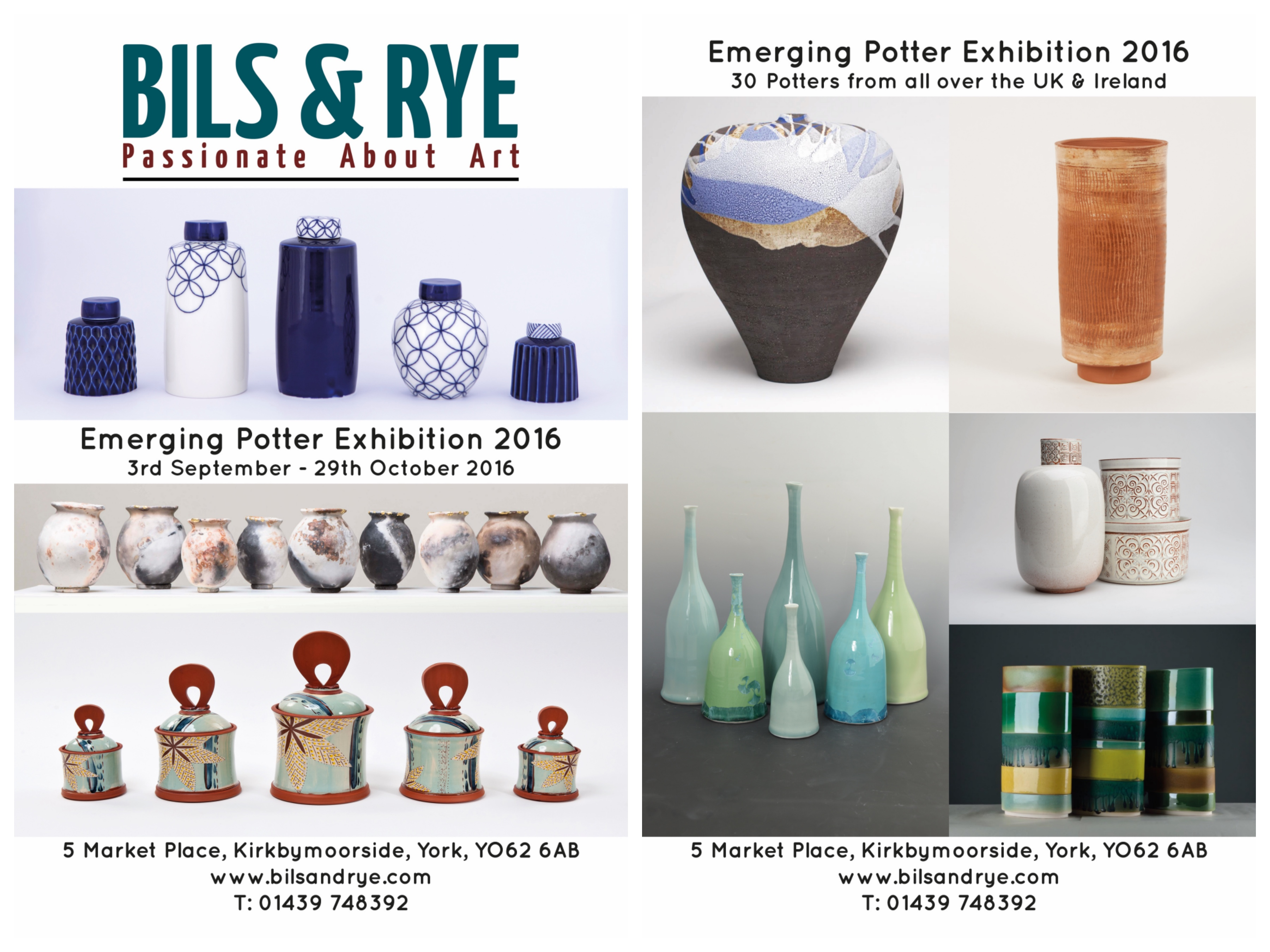 Emerging Potters Exhibition 2016
