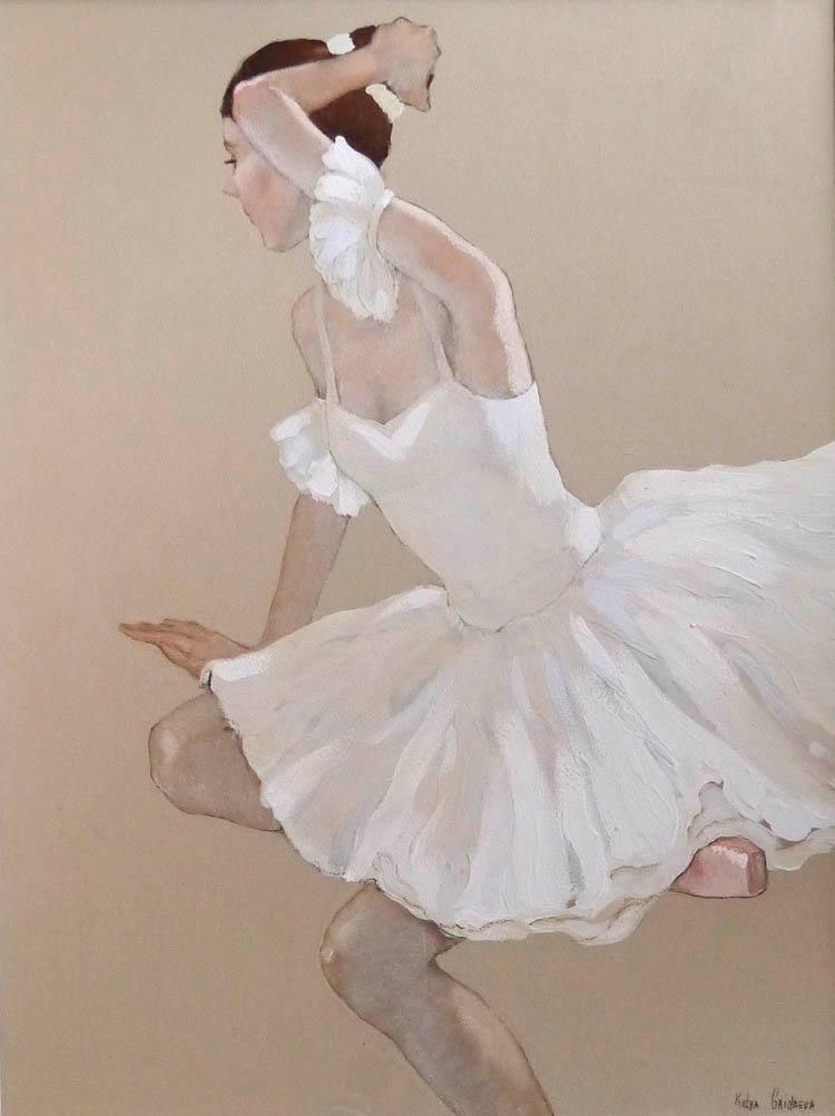Katya Gridneva - Adjusting Her Bun