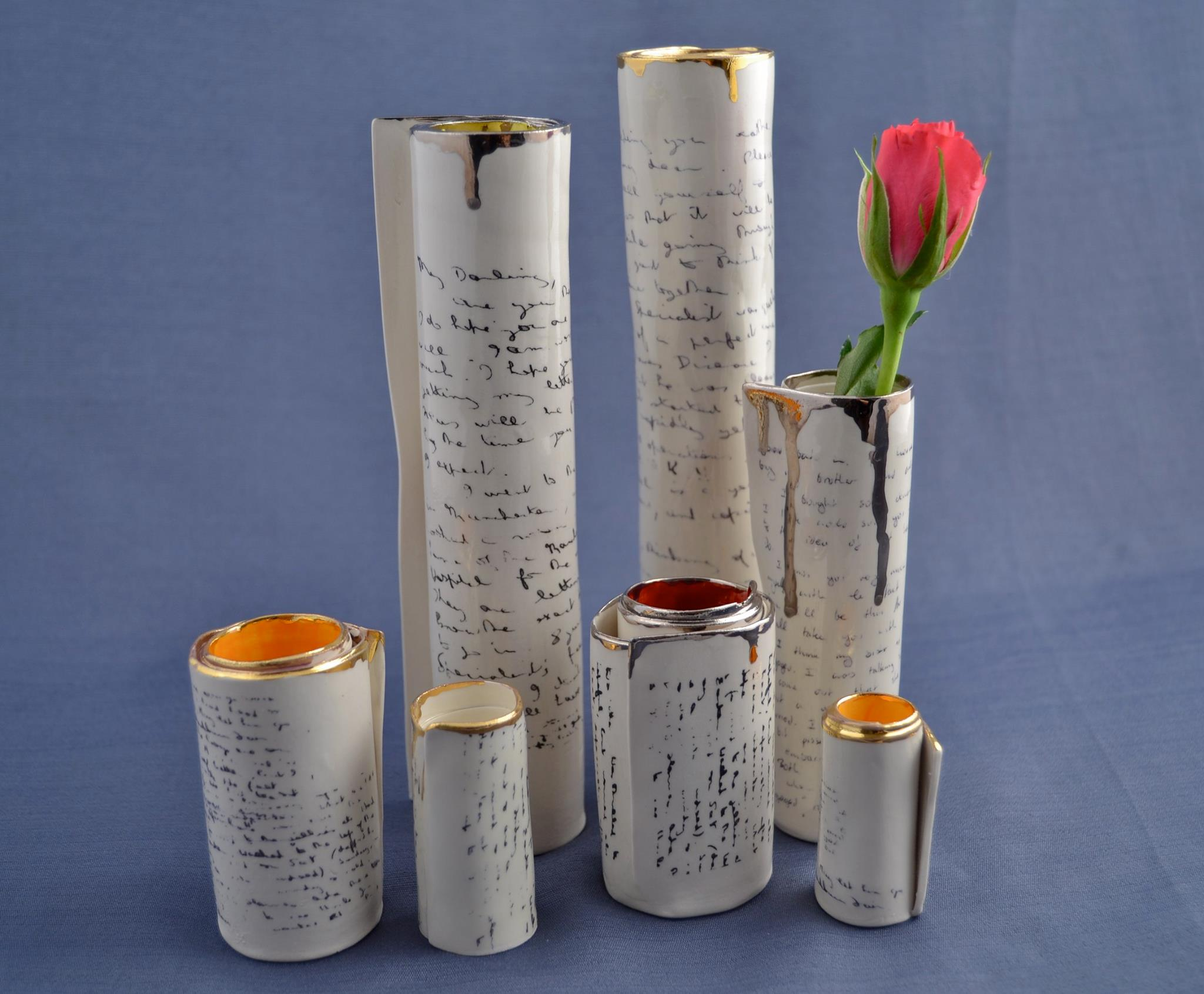 Diane Griffin - Porcelain Scrolls and Vases