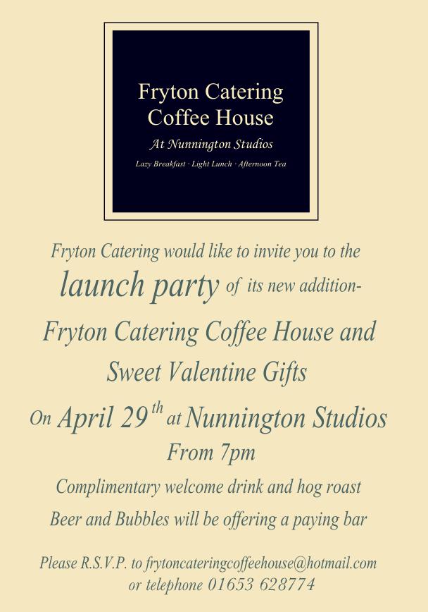 Fryton Catering joins Nunnington Studios
