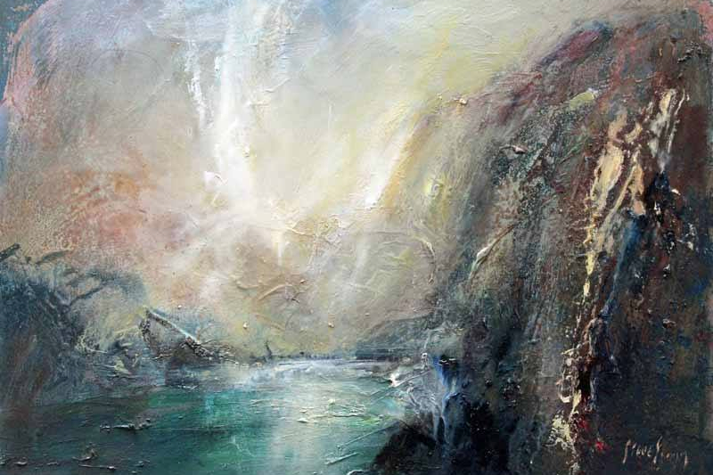 How The Light Bounces Around Below Cliffs