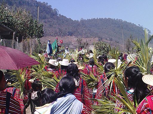 Palm Sunday procession in Mexico