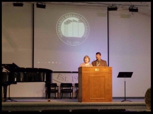 Sharing our testimony at the Founder's Week Bible Conference