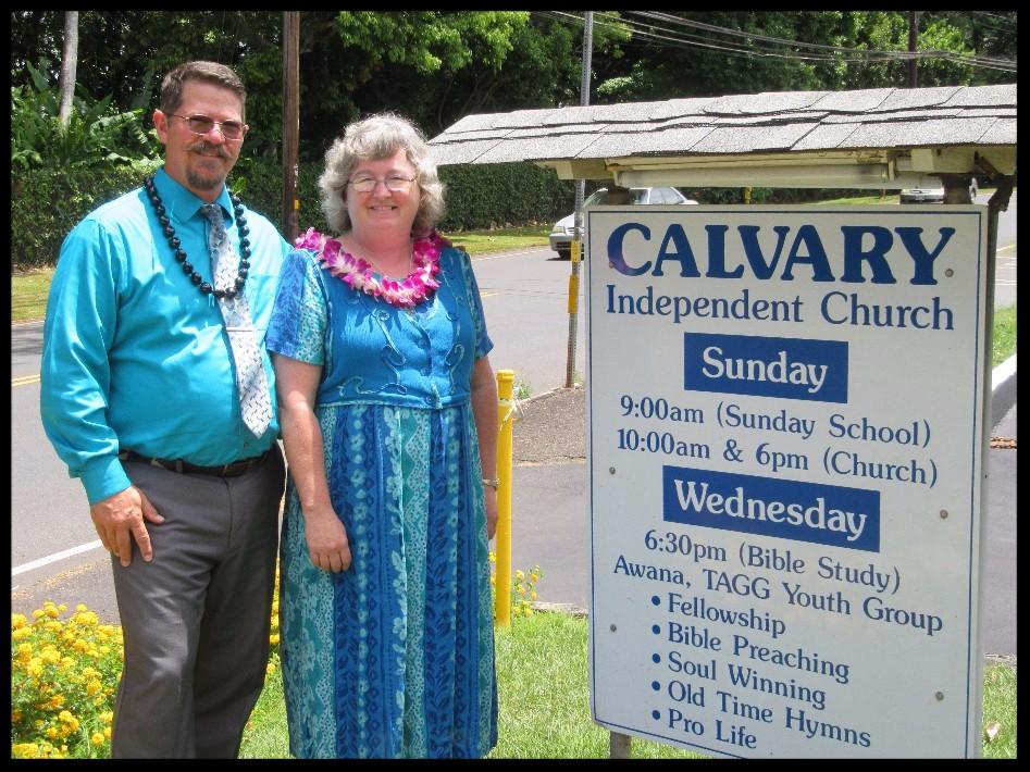 David and Patti at Calvary Independent Church