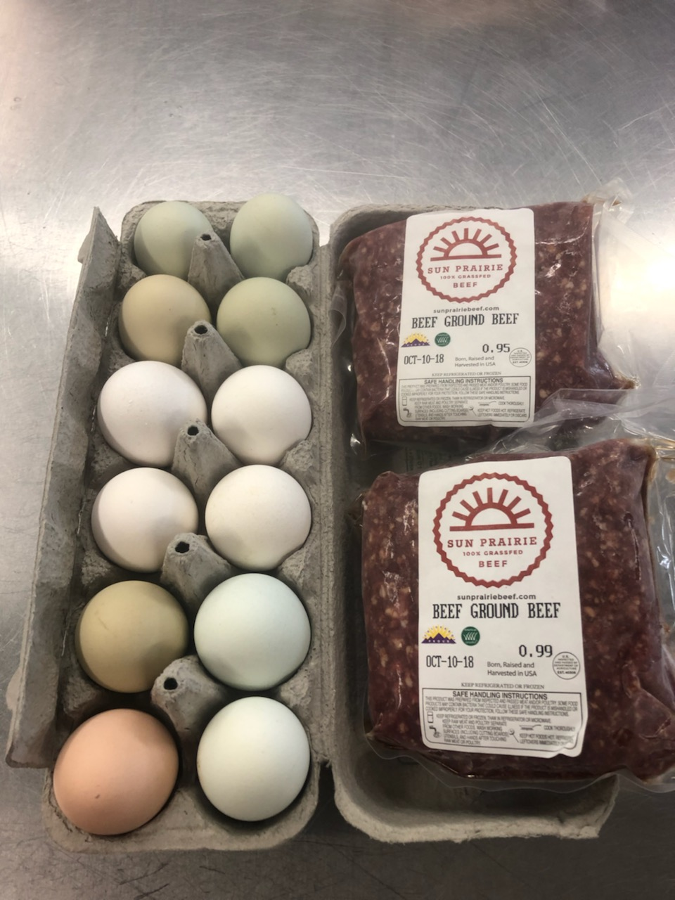 Protein Share - Beef (2 lbs ground) & Eggs (1 dozen)