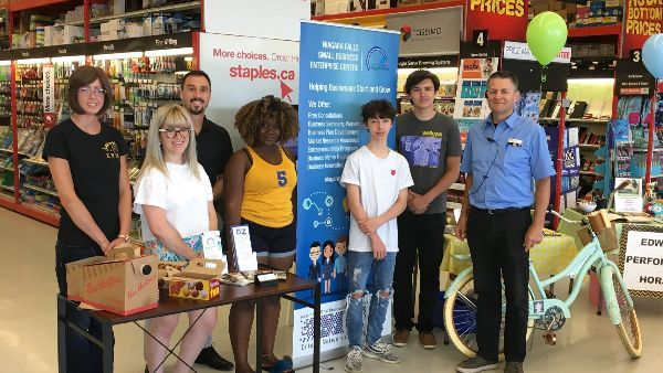 Summer Company participants showcase their businesses at Staples in 2018