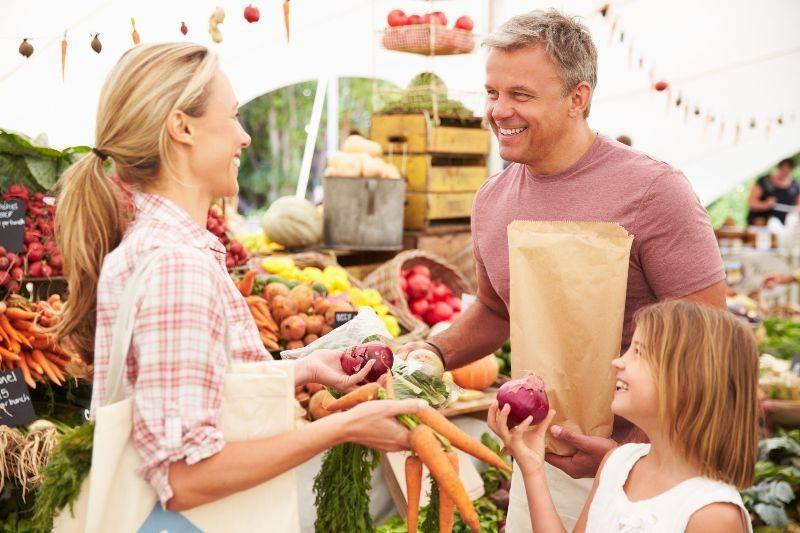 Family at Market