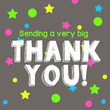Sending a very big THANK YOU!