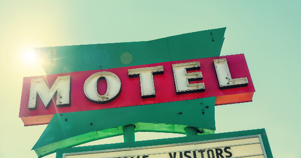 An old motel sign