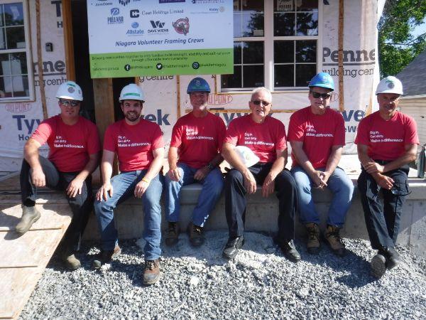 City of Niagara Falls Employees at a Habitat for Humanity build