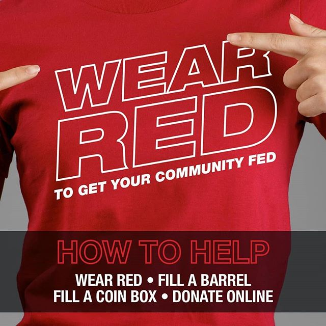Poster: Wear Red to Get Your Community Fed