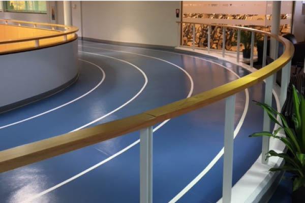 The indoor walking track at the Niagara Falls YMCA (MacBain Community Centre)