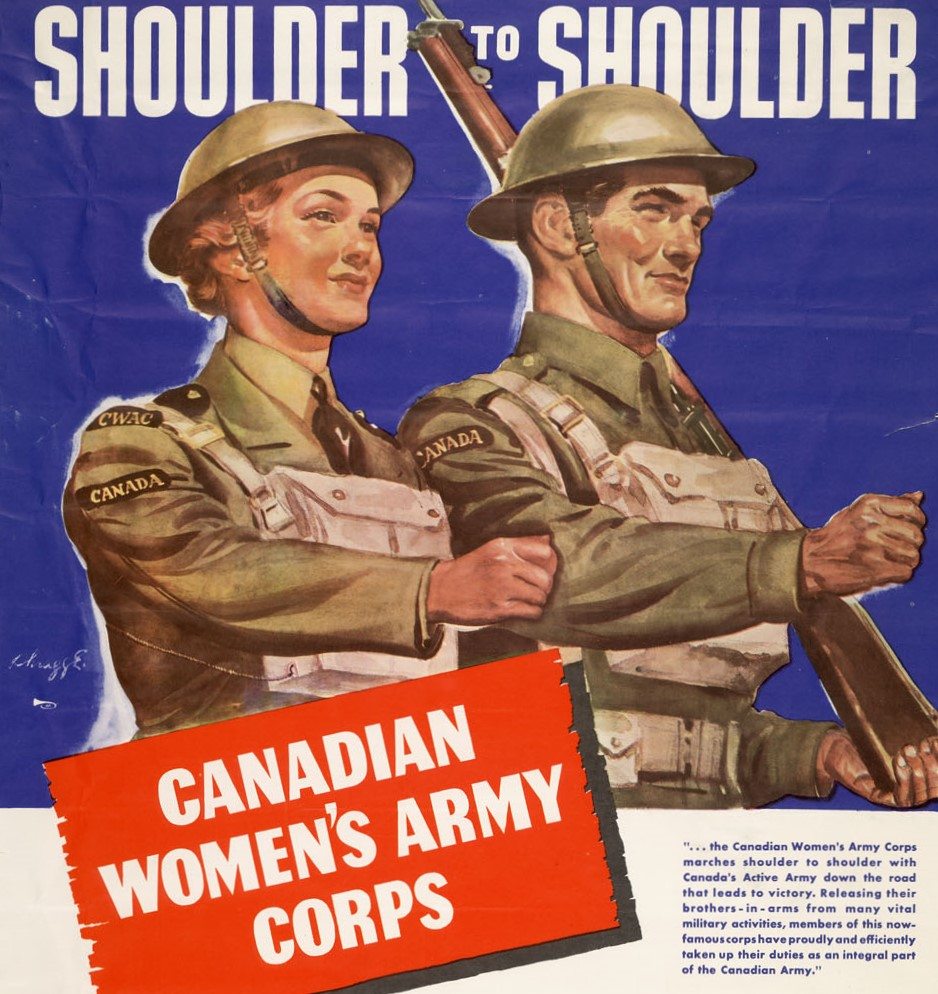 Canadian Women's Army Corp poster