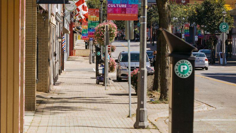 City of Niagara Falls parking meter on Queen Street.