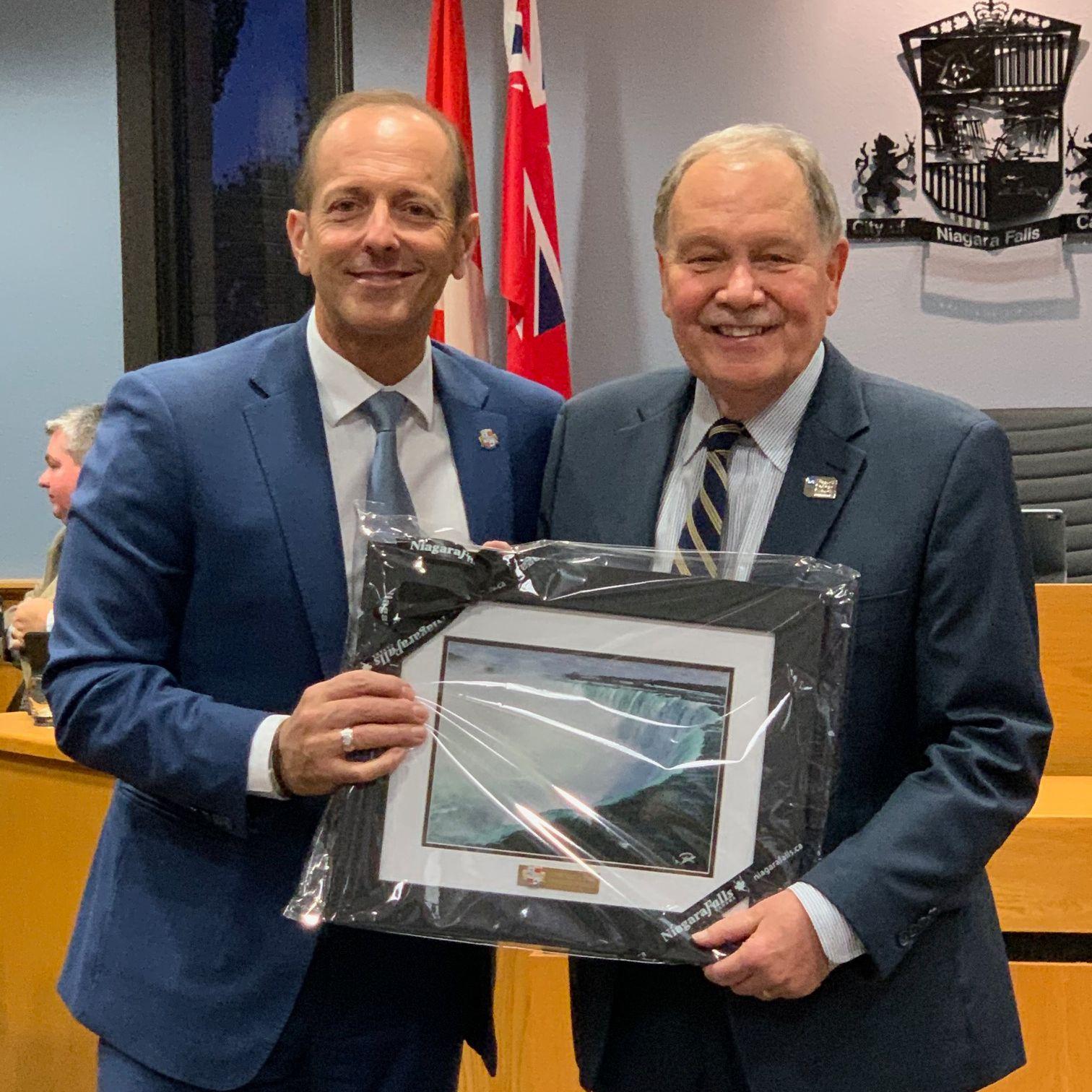 Mayor Jim Diodati and Dan Patterson