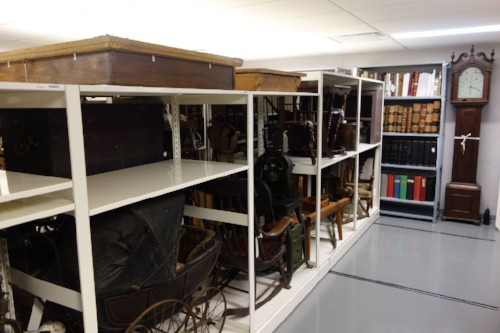 A picture of the museum's repository.