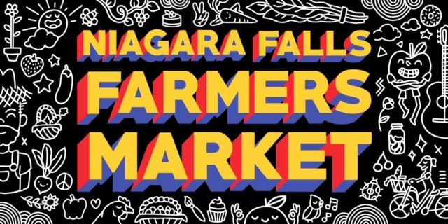 Niagara Falls Farmers Market sign designed by J-OH