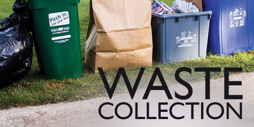 collection of waste on the curbside of a property
