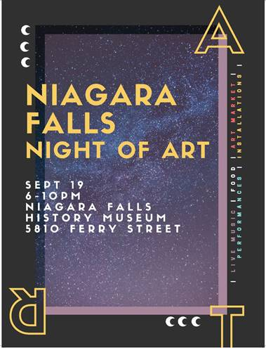 Niagara night of Art poster