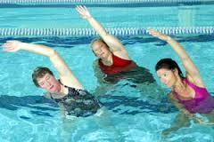 Ladies participating in Aqua Fit