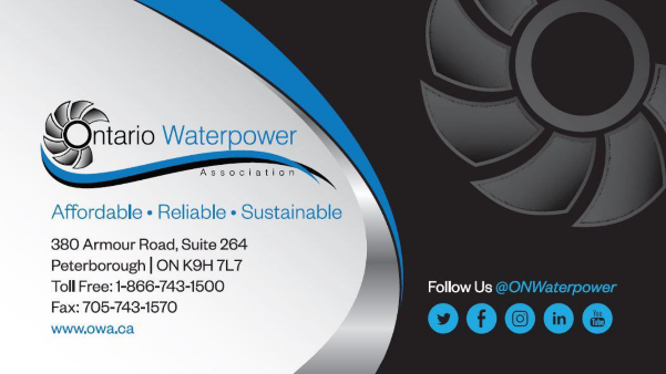 Report Cover: Ontario Waterpower Association
