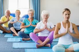 Ladies doing yoga