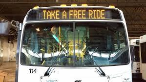Take a free ride bus