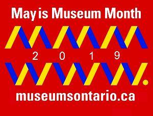 Logo: May is Museum Month 2019 museumsontario.ca